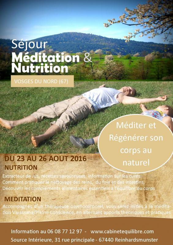 Affiche sejour detox et meditation aout