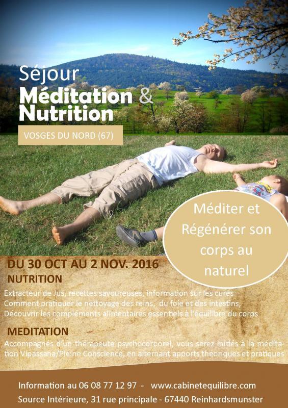 Affiche sejour detox et meditation novembre