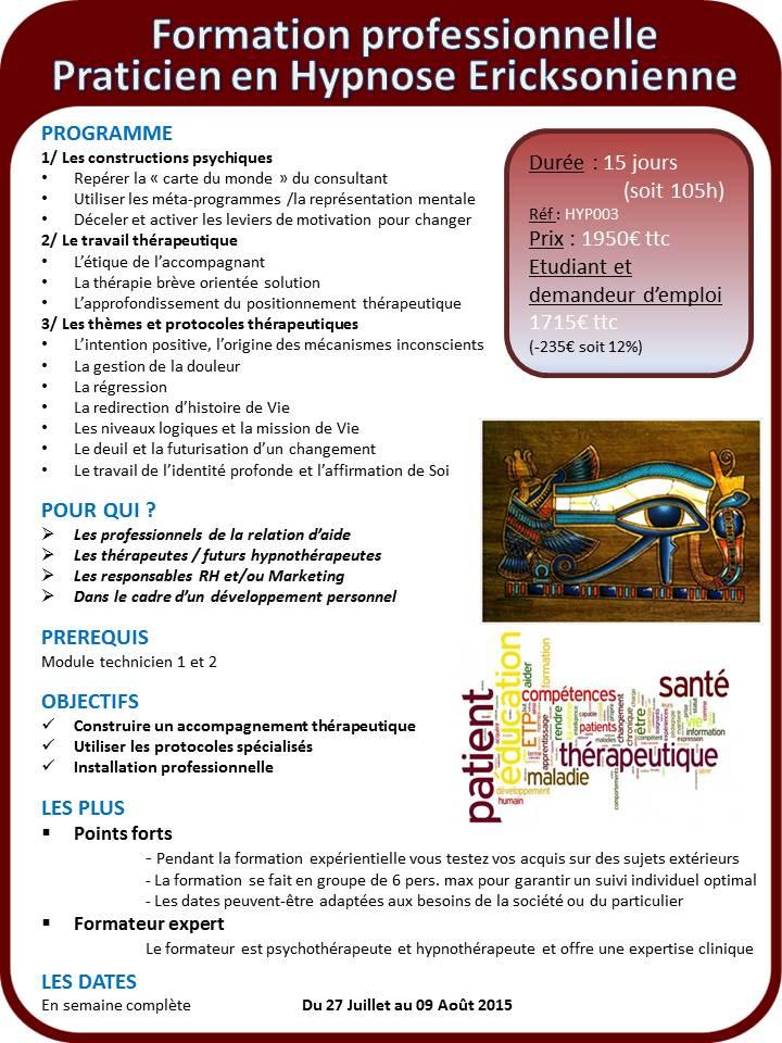 Programme formation hypnose praticien