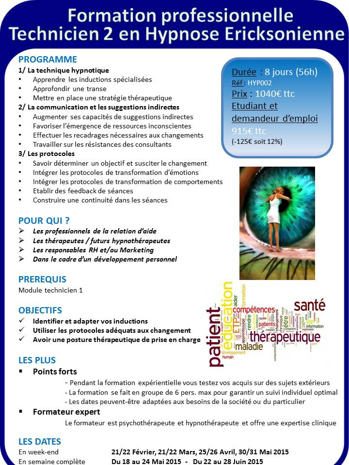 Programme formation hypnose tech 2